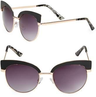 Fantas-Eyes FANTAS EYES Women's Round 51MM Clubmaster Sunglasses