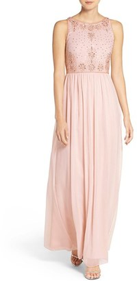 Women's Adrianna Papell Beaded Sleeveless Chiffon Gown $198 thestylecure.com