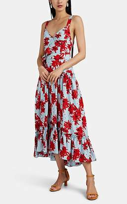 Proenza Schouler Women's Splatter Belted Floral Crepe Maxi Dress - Red Pat.