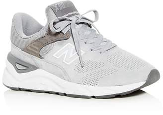 New Balance Women's X90 Perforated Suede Lace Up Sneakers