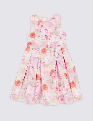 Marks and Spencer Pure Cotton Floral Print Dress (3-16 Years)
