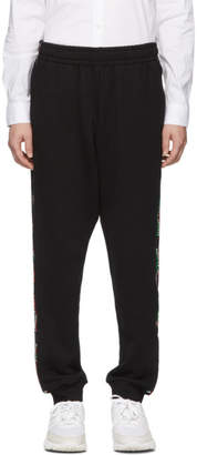 Moschino Black Italy Side Band Lounge Pants