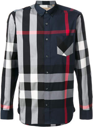 Burberry checked button-down shirt