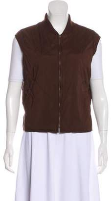 Loro Piana Sleeveless Quilted Vest Brown Sleeveless Quilted Vest