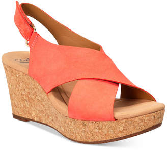 Clarks Collections Women Annadel Eirwyn Wedge Sandals Women Shoes