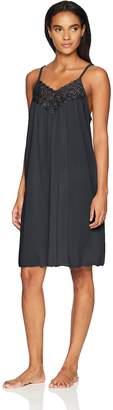 Shadowline Women's Beloved 38 Inch Braided Spaghetti Strap Short Gown