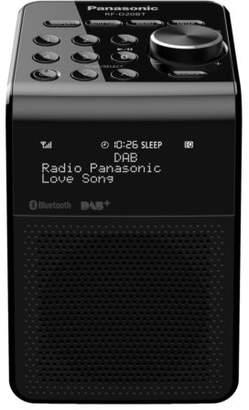 Panasonic NEW Portable Bluetooth Digital DAB+ Radio - Black