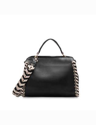 Braided Hem Handbag