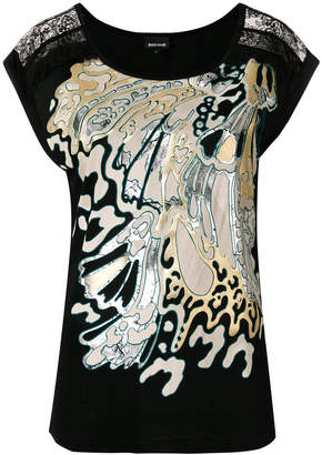 Just Cavalli wave design T-shirt