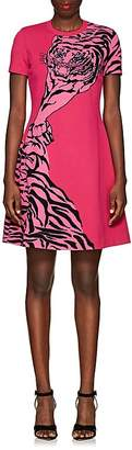 Valentino Women's Tiger-Pattern Rib-Knit Dress