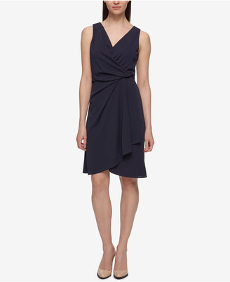 DKNY V-Neck Draped Jersey Dress $139 thestylecure.com