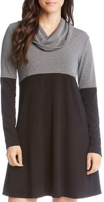 Karen Kane Color Block Cowl Neck Dress