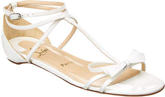 Christian Louboutin Blakissima Bow Flat Leather Sandal