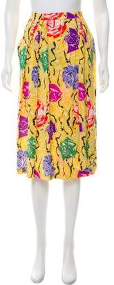 Ungaro Printed Knee-Length Skirt