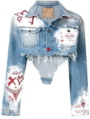 Mjb cropped painted denim jacket
