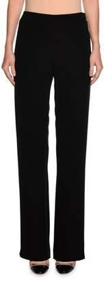 Giorgio Armani Wide-Leg Silk Pants, Black