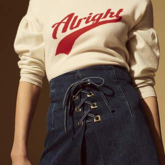 Sandro Denim skirt with metallic details
