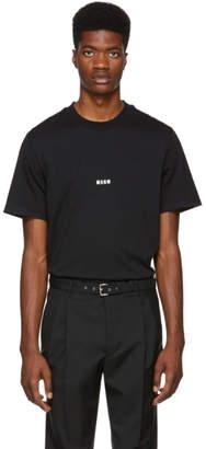MSGM Black Logo T-Shirt