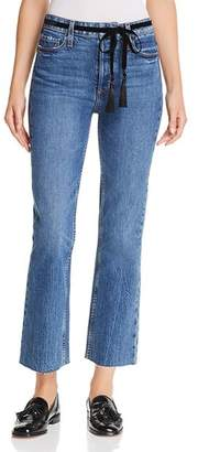 Paige Vintage Colette Cropped Flare Jeans in Hutton Tassel
