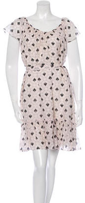 Alice by Temperley Abstract Pattern V-Neck Dress w/ Tags $65 thestylecure.com