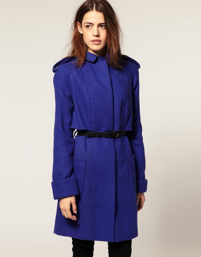 Asos Twill Coat With Belt