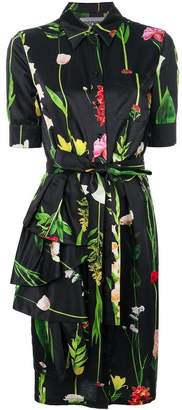 Moschino floral and foliage print shirt dress