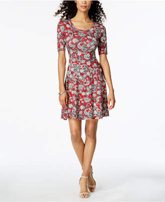 Karen Kane Printed Fit & Flare Dress, Created for Macy's
