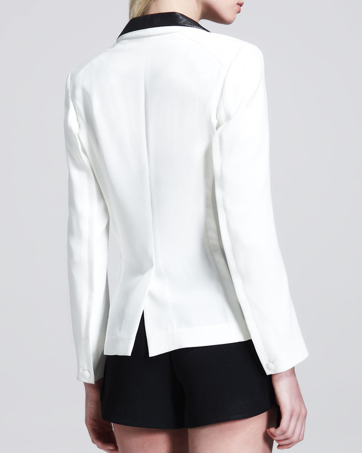 Rag and Bone Rag & Bone Sliver Leather-Lapel Tuxedo Blazer