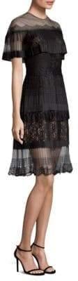 Fringed Mesh Dress