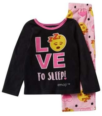 AME Emoji Love to Sleep Fleece Pajama Set (Little Girls & Big Girls)