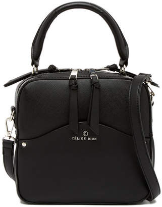 Celine Dion Motif Top Handle Leather Shoulder Bag