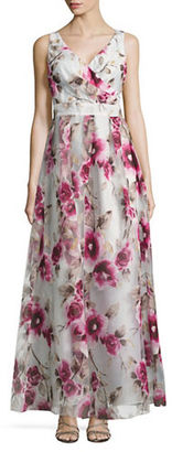 Betsy & Adam Sleeveless Floral-Print Gown $259 thestylecure.com