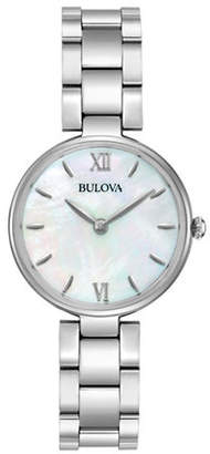 Bulova Analog Mother-of-Pearl Stainless Steel Bracelet Watch