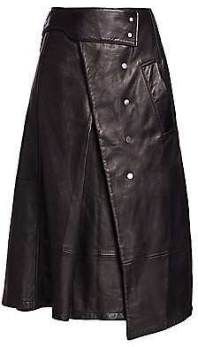 3.1 Phillip Lim Women's Leather Trench Skirt - Size 0