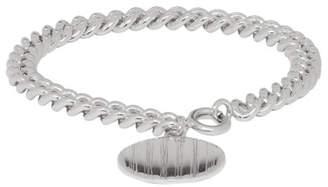 A.P.C. Silver Stripe Pendant Bracelet