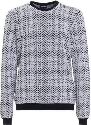 Giorgio Armani Herringbone Knit Sweater