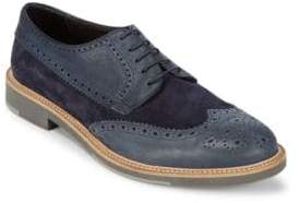 Canali Round Toe Leather Brogues
