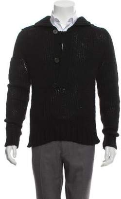 Alessandro Dell'Acqua Wool Knit Sweater black Wool Knit Sweater