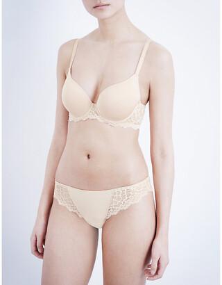Simone Perele Caresse jersey and stretch-lace underwired plunge bra