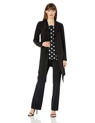 Anne Klein Women's Drape Front Long Jacket