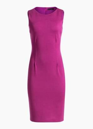 St. John Pintuck Milano Knit Dress