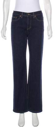 DKNY Mid-Rise Wide-Leg Jeans