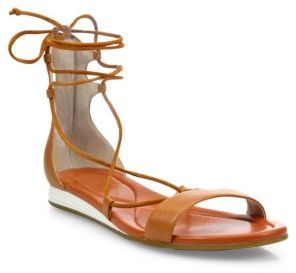 Cole Haan Grand Leather Lace-Up Sandals $130 thestylecure.com