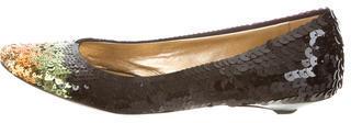 pradaPrada Sequined Round-Toe Flats