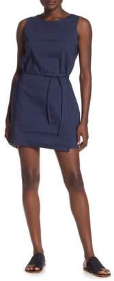 0f05959d267 Theory Didianne Waist Tie Linen Blend Dress