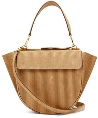 Wandler Hortensia Medium Corduroy Shoulder Bag - Womens - Tan