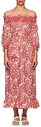 Lisa Marie Fernandez Women's Tomato Floral Linen Belted Dress - Tomato Floral