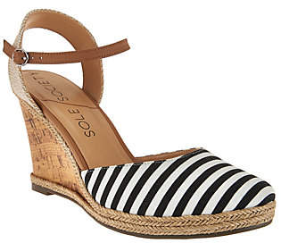 Sole Society Closed Toe Wedges w/ Ankle Strap -Lucy