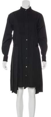 Sacai Long Sleeve Midi Dress