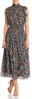 Nanette Lepore nanette Ruffle-Trim Floral-Print Maxi Dress